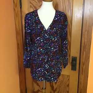 Vintage 90s colorful stained glass oversized top